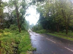 Blocked roads
