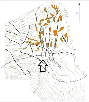 Łeba through and potential structures (Domżalski 2004)
